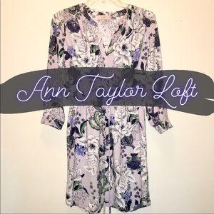 Ann Taylor Loft Outlet Lilac Floral Dress NWT